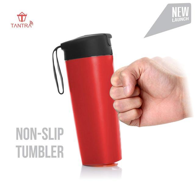 TANTRA Magic Bottle Tumbler, Suction Cup, Non-Spill Mug, Mi...