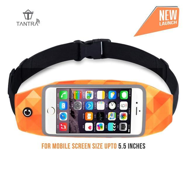 Tantra Zipper Smart Sports Running Waist Belt Pouch with Tr...