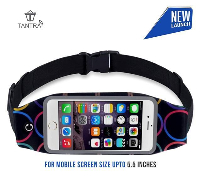 Tantra Zipper Running Waist Belt Pouch with Transparent Tou...