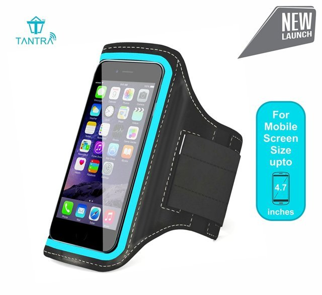 TANTRA Mobi-Blue Armband,Adjustable Sports Running,Jogging,...