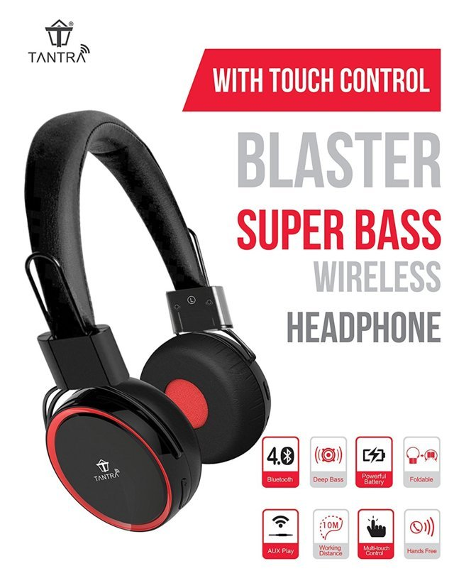 Tantra Blaster Super Bass Bluetooth Wireless Headphone with...