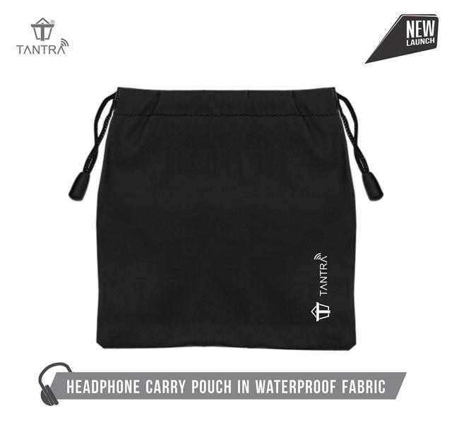 TANTRA Headphone Carry Pouch with Waterproof Fabric...