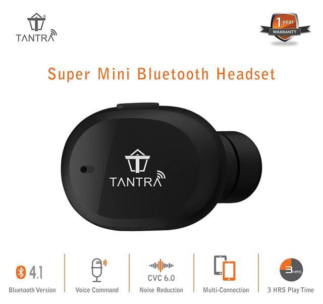 TANTRA® AirBud Mini Bluetooth Headset Invisible Wireless He...