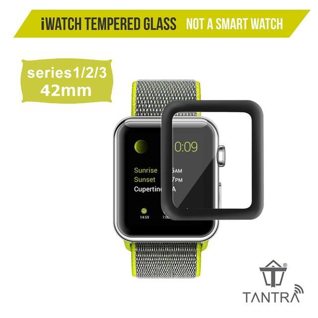 TANTRA® Apple iWatch Screen Protector Tempered Glass 42mm, ...