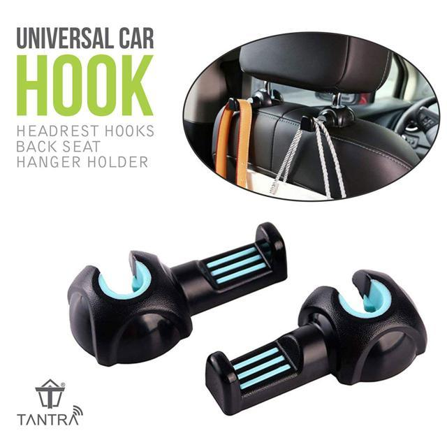Tantra Car Headrest Hooks Back Seat Hanger Holder Organizer...