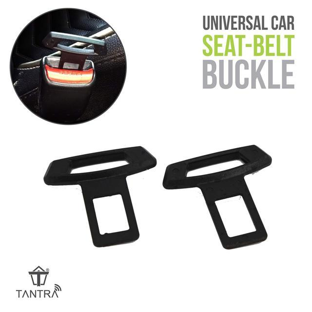 TANTRA Safety Belt Buckle Universal Black Seat Belt Alarm S...