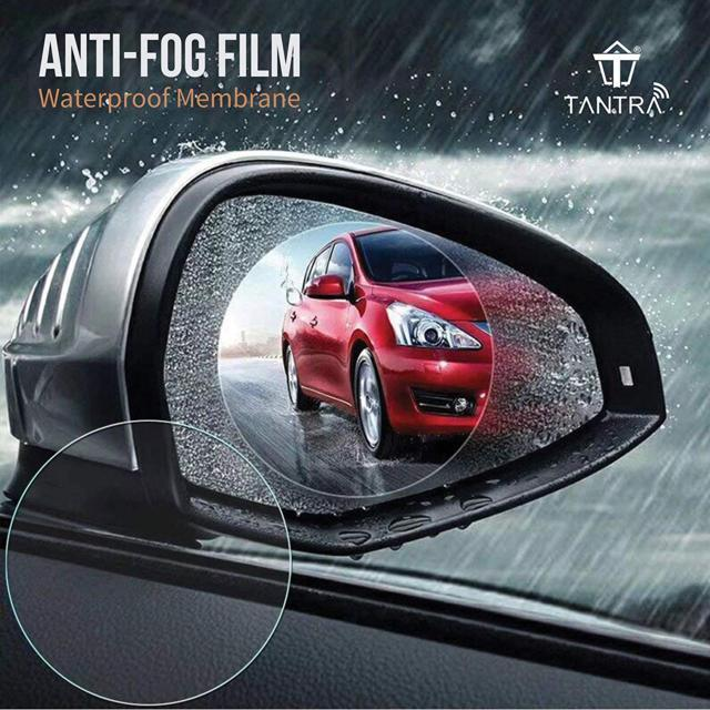 TANTRA Anti-Fog Mirror Protective Film for Car Rear View Mi...