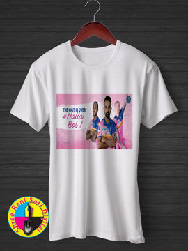 The Wait is Over #Halla Bol RR IPL T-shirt