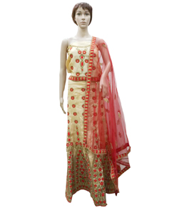 Raw Silk Lehenga with Dupatta