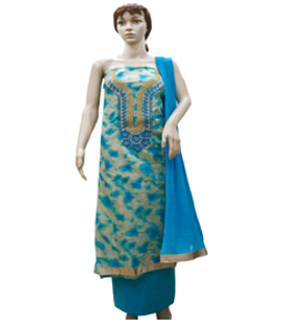 Cotton Salwar suit with stone work