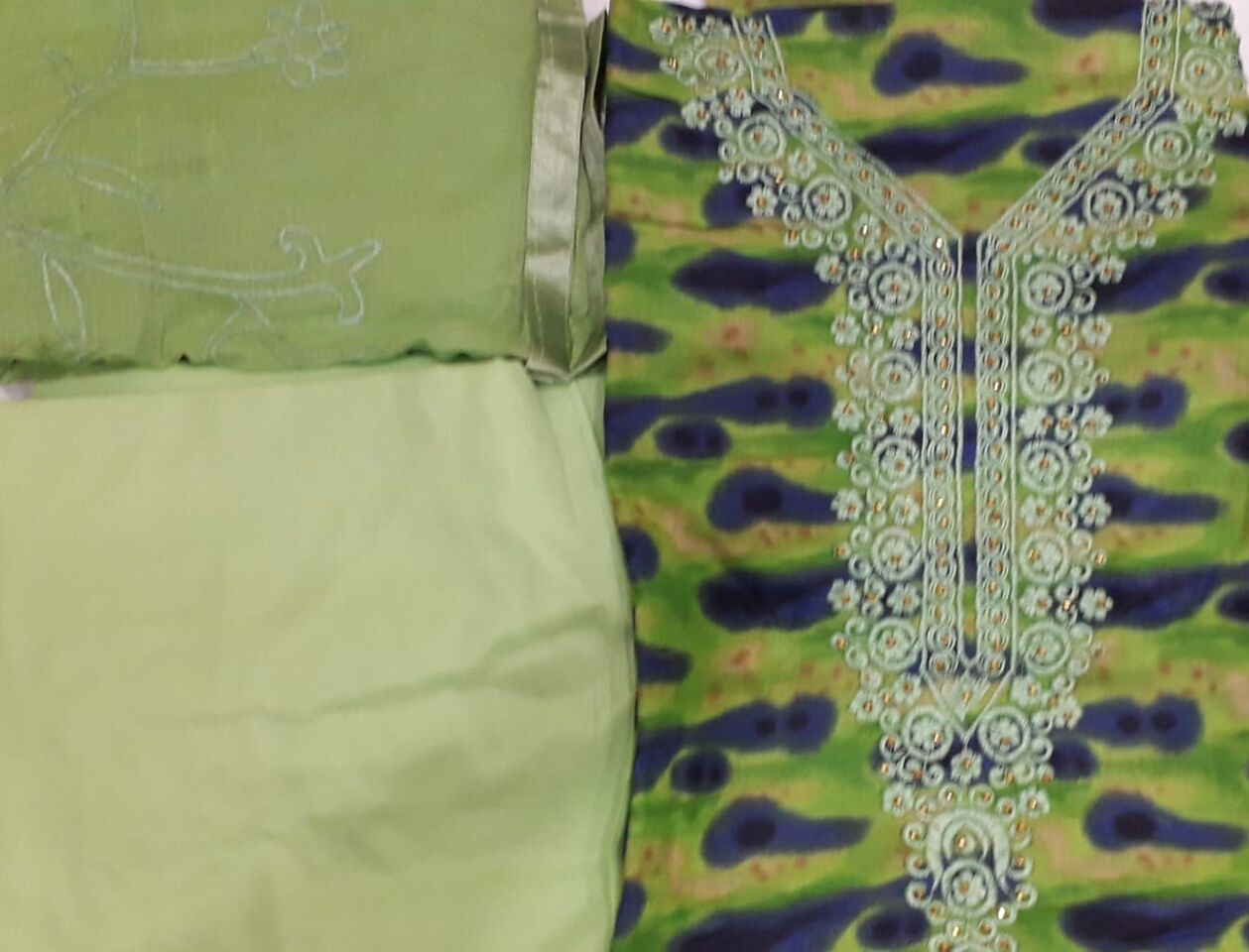 Cotton Salwar suit with sequince work
