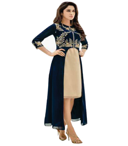 Georgette Long kurti with Jacket
