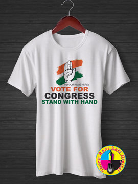 Vote for Congress Stand with Hand