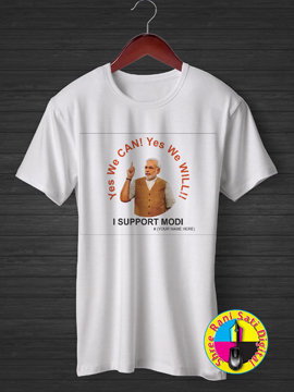 Yes we CAN! Yes we will! I support Modi t-shirt